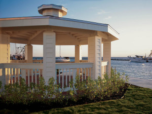Outdoor gazebo at The Lighthouse Inn at Aransas Bay.