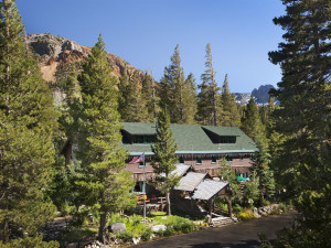 Exterior view of Tamarack Lodge.