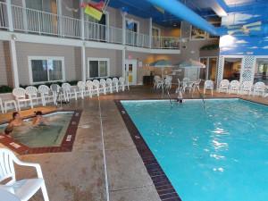 Indoor pool at Bayshore Resort.