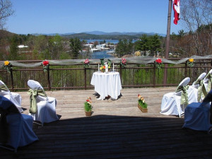 Wedding ceremony at Summit Resort.