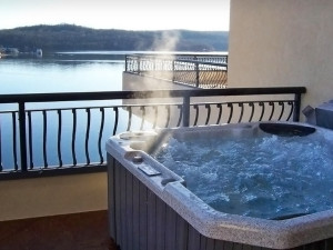 Jacuzzi balcony at D' Monaco Luxury Resort.