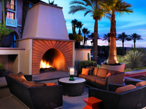 Fireplace patio at The Westin Lake Las Vegas Resort & Spa.