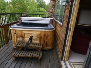 Vacation rental hot tub at SkyRun Vacation Rentals - Summit County, Colorado.
