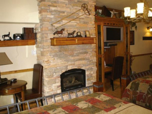 Guest room at Prospector Square Lodge & Conference Center.