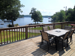 Cottage deck view at King Creek Resort & Marina.