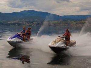 Jet skis at Summerland Waterfront Resort.