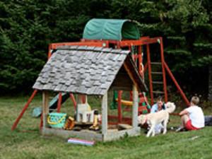 Children's playground at Solbakken Resort.
