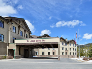 Exterior view of The Lodge at Big Sky.