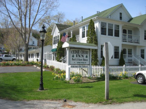 Exterior view of Cedar Court Inn.