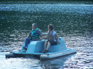 Paddle boat at Isle O' Dreams Lodge.