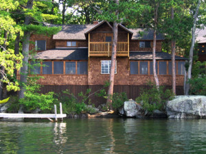 Lakeside cabin at Rockywold-Deephaven Camps.