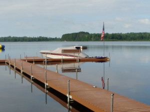 Dock view at Sandy Point Resort and Disc Golf Ranch.