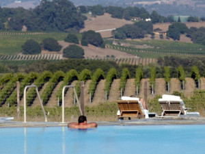 Swimming at The Carneros Inn.