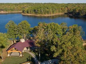 Lake view at Highland Rim Retreats.