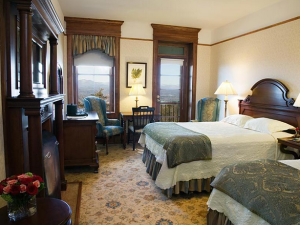 Double bedroom at Mohonk Mountain House.