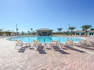 Resort pool at Florida Paradise Villas.