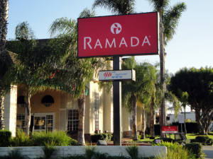 Exterior view of Ramada Limited & Suites Costa Mesa/Newport Beach.