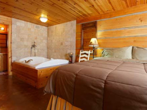 Elena bedroom at Door County Cottages.