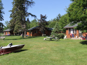 Cabins at Tiger Musky Resort.