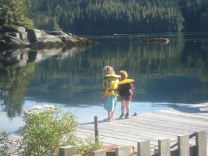 Fishing at Blackfish Lodge.