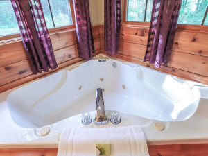 Chalet spa at Old Man's Cave Chalets.