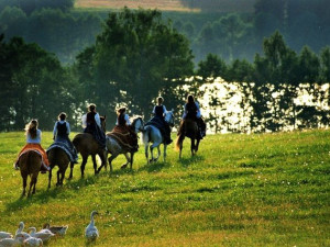 Horseback riding at Black Diamond Vacation Rentals.