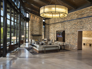 Lobby at The Woodlands Resort and Conference Center.