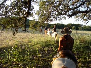 Horseback riding at Rancho Cortez.