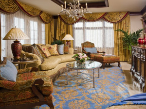 Suite living room at The Broadmoor.
