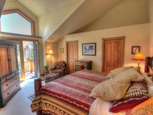 Vacation rental bedroom at SkyRun Vacation Rentals - Steamboat Springs, Colorado.