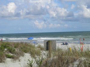 Beach view at Brunswick Plantation Resort.