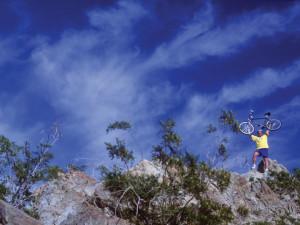 Biking at Smoke Tree Ranch.