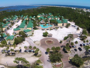 Aerial view of Purple Parrot Perdido Key.