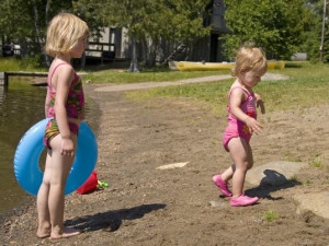 Beach fun at Nor'Wester Lodge.