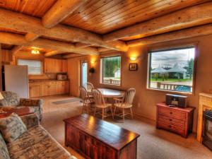 Cabin interior at Elk Ridge Resort.