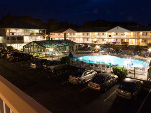 Indoor and outdoor pool available at Mariner Resort.