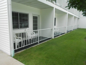 Balconies at Homestead Suites.