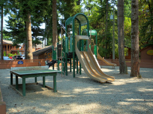 Kid's playground at Tigh-Na-Mara Resort.