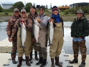 Fishing at Alaska's Gold Creek Lodge.