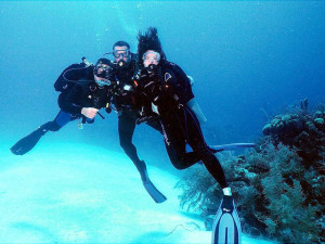 Diving at Belize Beach Suites on Ambergris Caye.