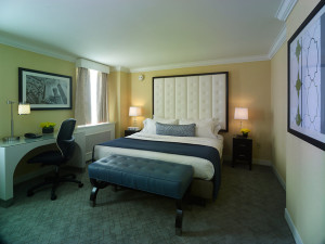 Guest room at Allerton Hotel.