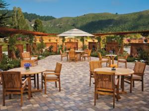 Patio Seating at Carmel Mission Inn