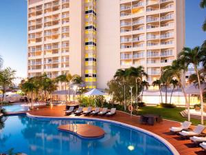Exterior view of Cairns International Hotel.