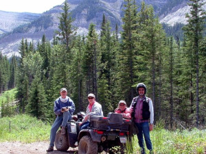 ATV at Cheechako Cabins.