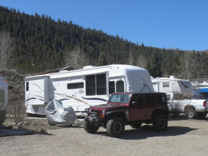 RV camping at Three Rivers Resort.