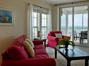 Guest living room at Palm Island Resort.
