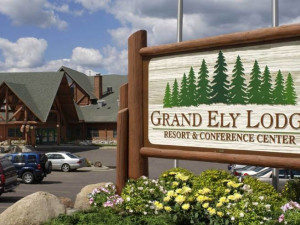 Exterior view of Grand Ely Lodge Resort & Conference Center.