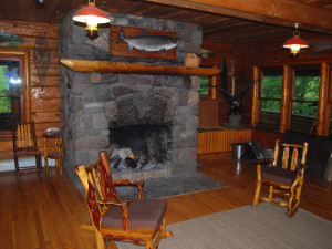 Lodge interior at Clearwater Historic Lodge.
