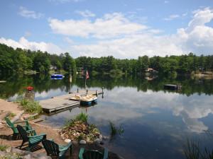 Rental dock at Visit Up North Vacation Rentals.