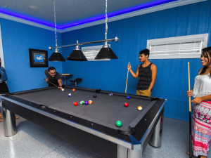 Billiards table at Tropical Escape Vacation Homes.